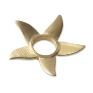 Scheibe Blüte 30mm goldplattiert