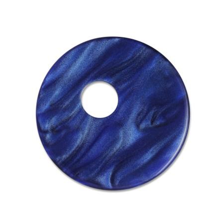 Scheibe Aquarell assym. Acryl 33mm blau