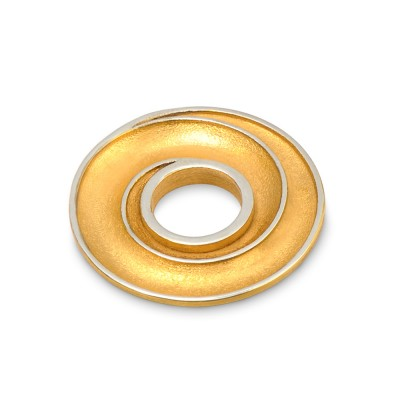 Scheibe Galaxie hoch, 22 mm, goldplattiert
