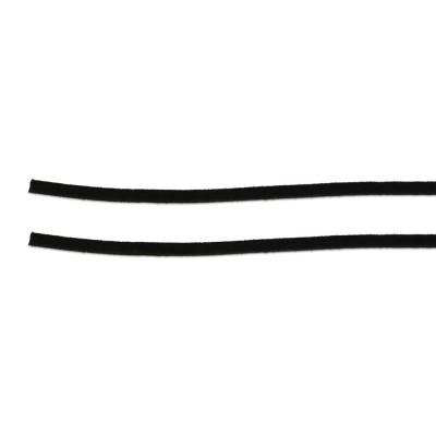 Lederband Alkantara vegan 100 cm schwarz