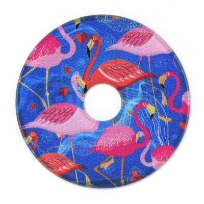 Acryl Scheibe 36mm blaue Flamingos