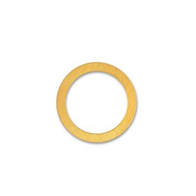 Anhänger Kreis 17mm plattiert