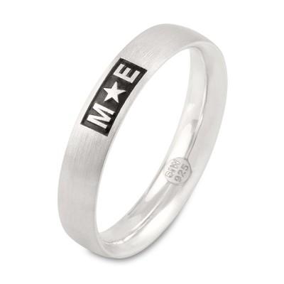 Ring 4mm - bis 3 Buchstaben, Sonderzeichen