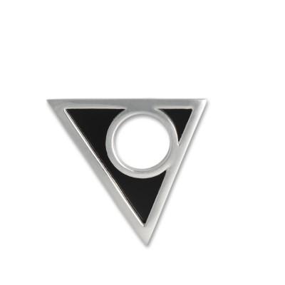 Scheibe Hip, 25x19 mm, Dreieck, mit Acrylscheibe