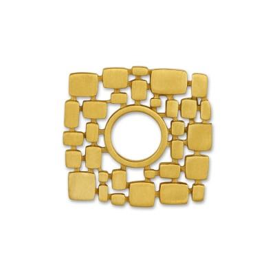 Scheibe plain quad 24mm goldplattiert
