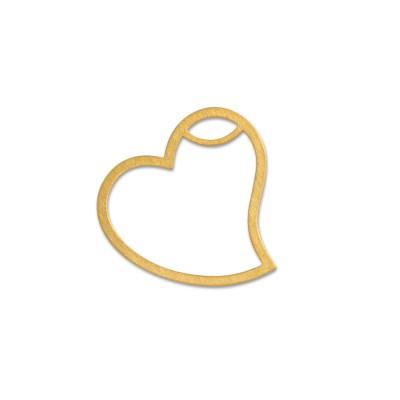 Anhänger Herz 21x20mm goldplattiert