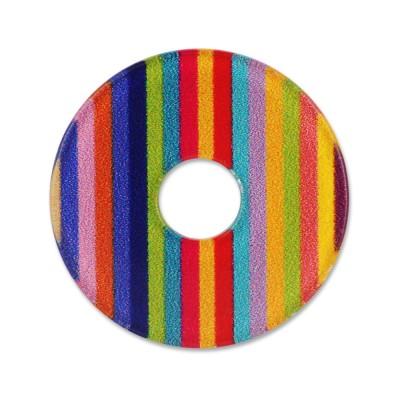 Acryl Scheibe 28mm Stripes