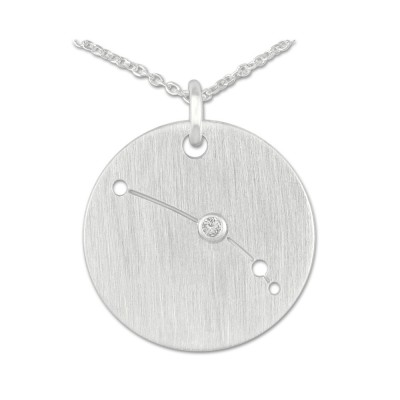 Sternzeichen Widder, Anhänger 16 mm, mit Brillant, inkl. Kette