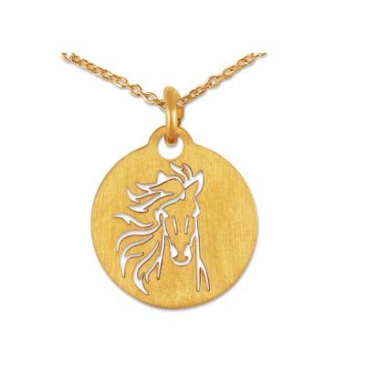 Anhänger Pferd inkl. Silberkette goldplattiert